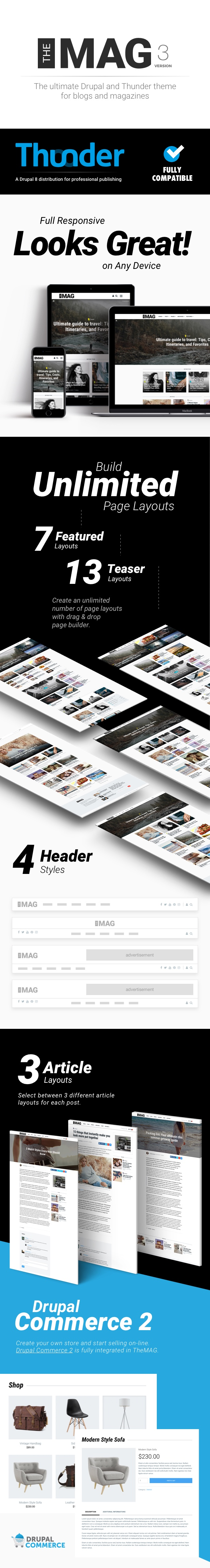 TheMAG theme for Drupal and Drupal Thunder